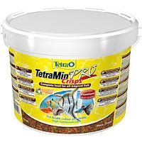 TetraMin Pro Crisps Корм в виде чипсов для всех видов рыб, 10 л