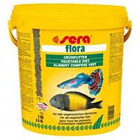 Sera flora 10 л растительный корм для рыб купить