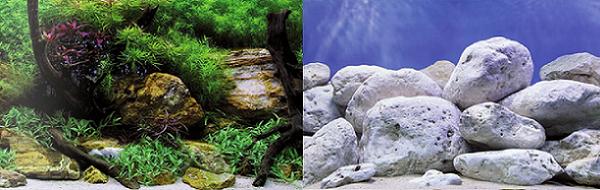 фон для аквариума купить двусторонний