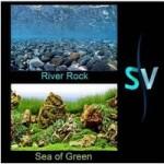 Фон двусторонний для аквариума Hagen River Rock/Sea of Green