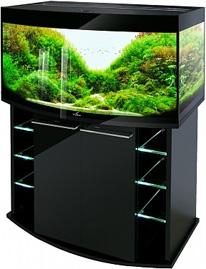 Аквариум Биодизайн Crystal Panoramic 210 черный суперглянец