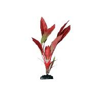Искусственное шелковое растение Криптокорина красная для декорирования аквариума