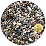 Грунт гравий гранитный окатанный Красно -черный, фр. 5-10 мм