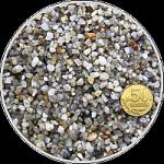 Грунт окатанный кварцевый песок (серый) фр. 2-5 мм