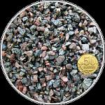 Грунт щебень гранитный Чёрно-серый+бордо, фр. 2-5 мм