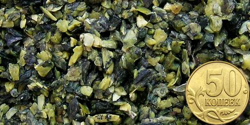 купить Грунт змеевик Тёмно-зелёный, фр. 2-5 мм