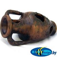 купить декорации аквариумные из глины Амфора, длина 9-12 см