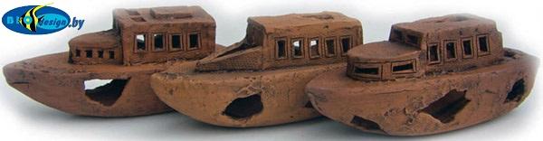 купить декорации из глины Боевой корабль, длина 15-20 см