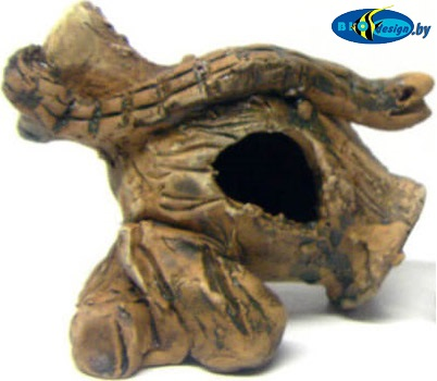 глиняные декорации купить Кувшин с подставкой, длина 6-8 см