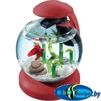 купить круглый аквариум бордовый
