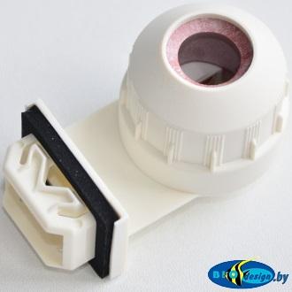 Патрон G-5 vossloh schvabe гидроизолированный (белый) для ламп T5
