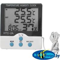 Метеостанция с часами и внешним датчиком Kromatech HTC-2A