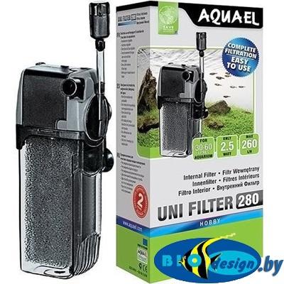 AquaEl Unifilter 280 — внутренний фильтр для аквариумов до 60 литров купить