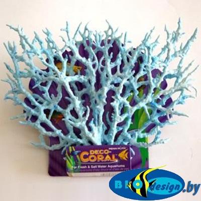 аквариумные декорации в Минске: Декоративная ветка коралла, голубая большая