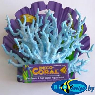 Декоративная ветка коралла, голубая малая