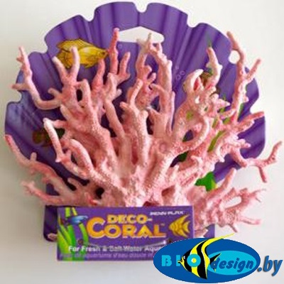 аквариумные декорации в Минске: Декоративная ветка коралла, розовая малая