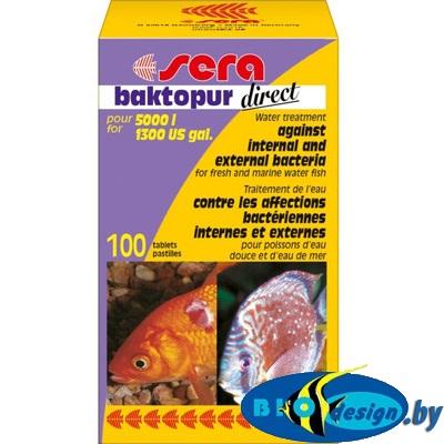 Лекарство для рыб SERA baktopur direct 100 таб.