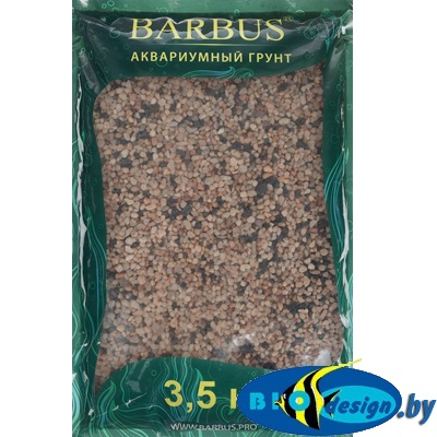 купить Грунт для аквариума Barbus - Премиум, кварц черно - розовый, 2-4 мм