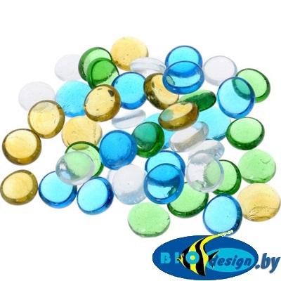 Марблс Barbus Glass 009 голубой, желтый, зеленый, 16 мм, 200 г