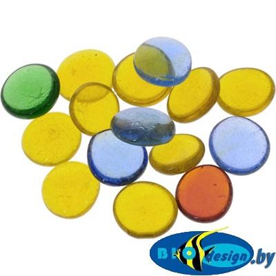Марблс Barbus Glass 017, зеленый, желтый, синий, 35 мм, 200 г