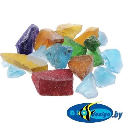 Марблс Barbus Glass 021 Кристаллы, желтый, голубой, зеленый, 25-35 мм, 200 г