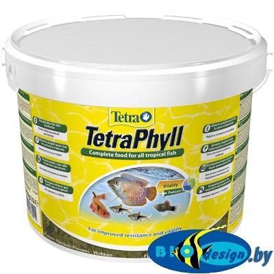 купить корм Tetra Phyll 10 л (ведро) растительные хлопья