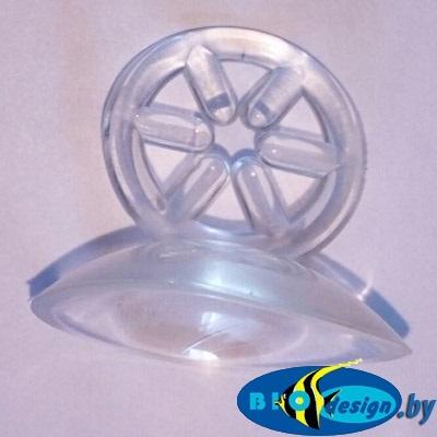 Присоска силиконовая с держателем 3 см — 4 мм купить