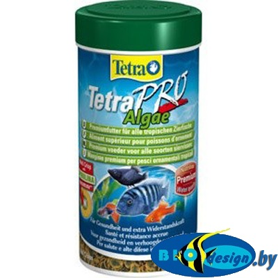 корм купить Tetra PRO Algae Crisps 100 мл