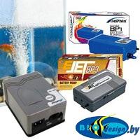 аквариумное оборудование - Компрессоры на батарейках и аккумуляторах