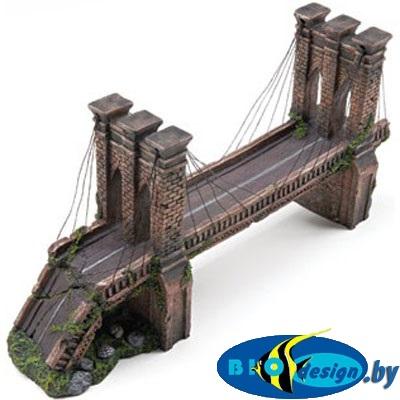 Купить декорации для аквариума: Декоративное украшение — Бруклинский мост, средний