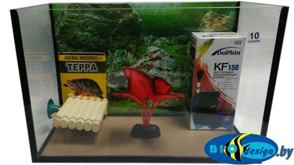 Аквариум для красноухих черепах 10 л купить