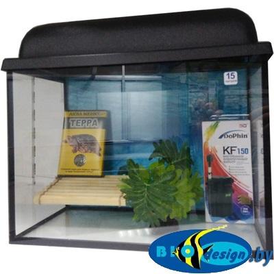 Аквариум для красноухих черепах 15 л купить