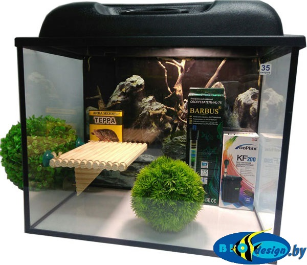 Аквариум для красноухих черепах 35 л купить