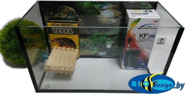 Аквариум для красноухих черепах 7 л купить