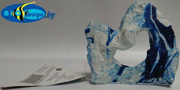 Декоративный камень CANYON ROCKS, голубой-белый small RR-410