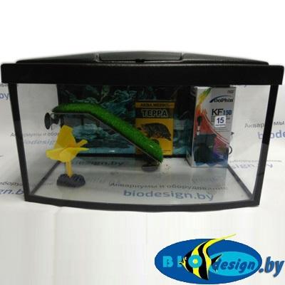 Террариум панорама для красноухих черепах ТВ 15 л (комплект) купить