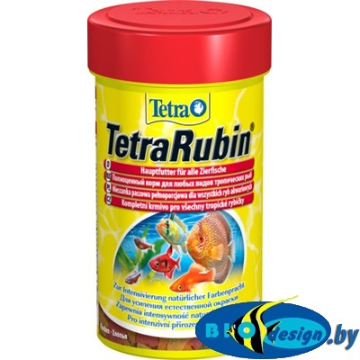Tetra Rubin 100 мл хлопья, корм для улучшения окраски рыб