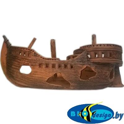 Затонувший корабль (B), длина 50-30 см