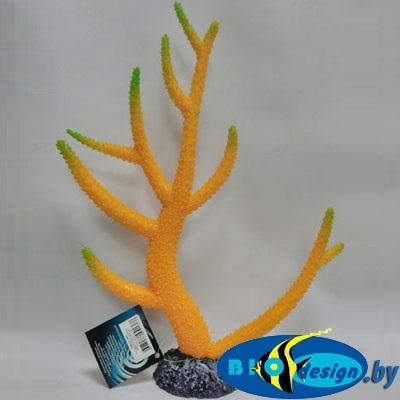 Аква декор BARBUS: Пластиковый коралл желто-зеленый (Decor 262)