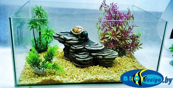 Камень для террариума: Подставка для черепах суша К-25 зеленая
