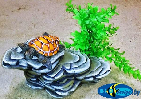 Камень для террариума: Подставка для черепах суша К-25 синяя