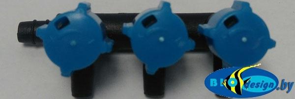 Краник на три выхода (KW), с плавной регулировкой