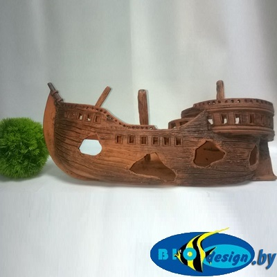 Декор корабли для аквариума