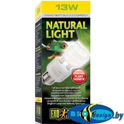 Лампа с полным спектром для террариумов Hagen Repti-Glo 2.0 Compact 13 Вт