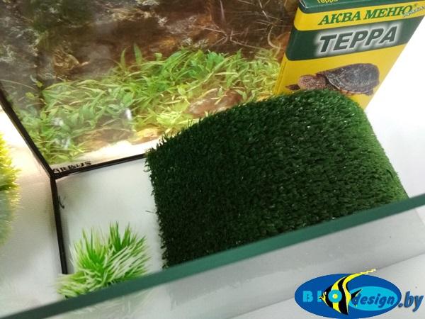 Аквариум для красноухих черепах 5 литров GREEN (комплект)