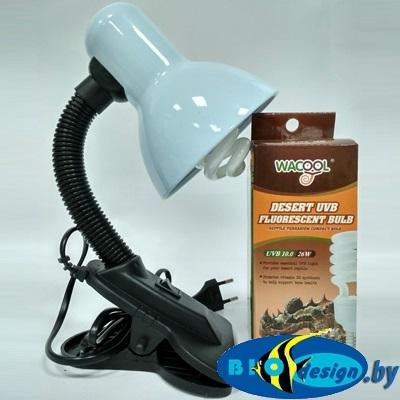 Лампа для террариума (лампа для молодых красноухих черепах) комплект