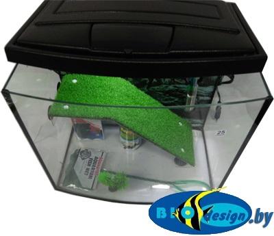 Террариум панорама MAXI ТВ для красноухих черепах 25 литров (комплект)