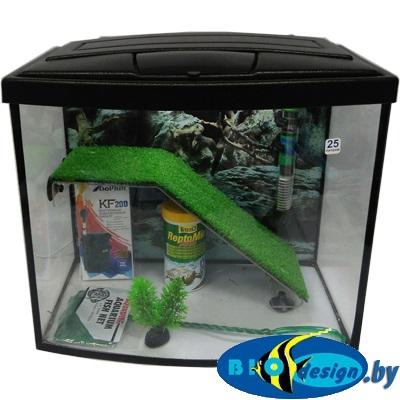 Террариум панорама MAXI ТВ для красноухих черепах 25 литров (комплект) купить