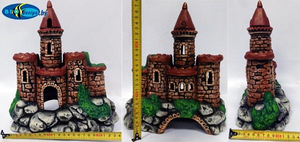 Декорация аквариум замок с башней К-60 большой