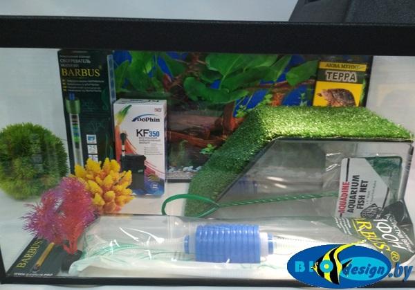 Террариум Т40 для красноухих черепах (комплект с оборудованием)